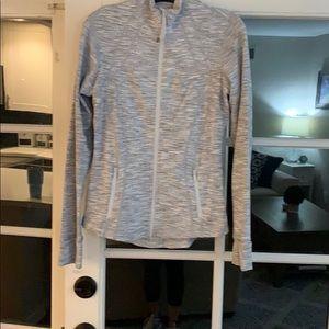 Grey/white lulu lemon striped jacket